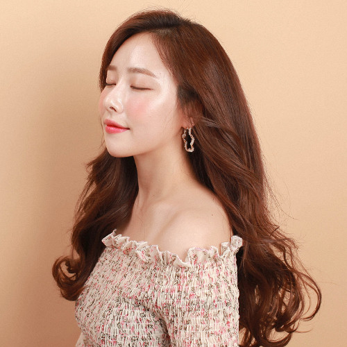 Tangled Human Hairpiece (Shape memory human hair) <br> Ironing Curling 5-piece 43cm